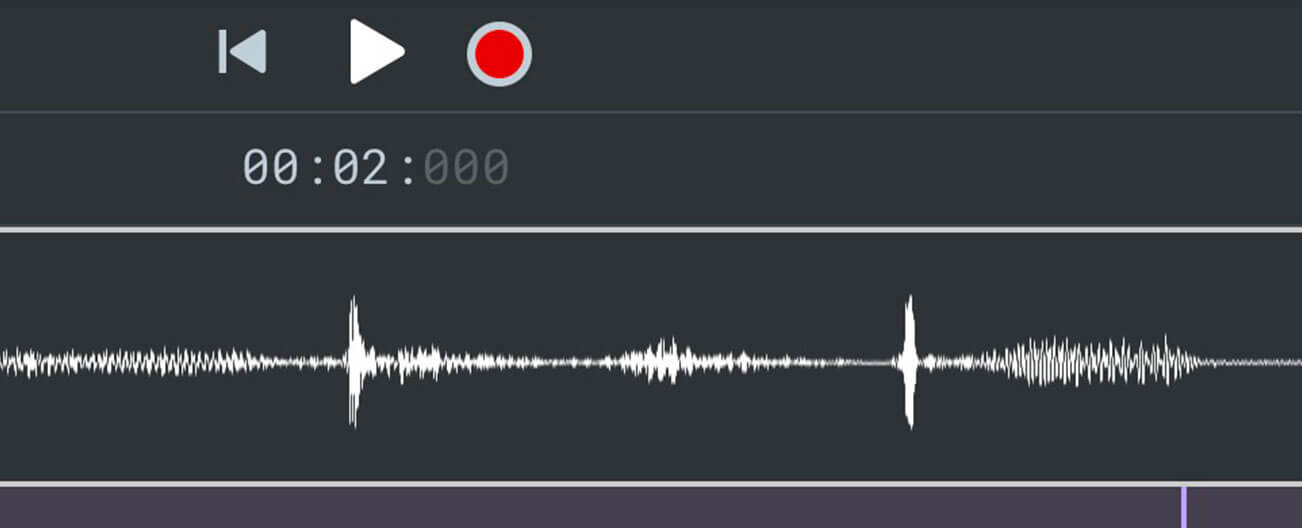 Record right in the app and start editing your audio