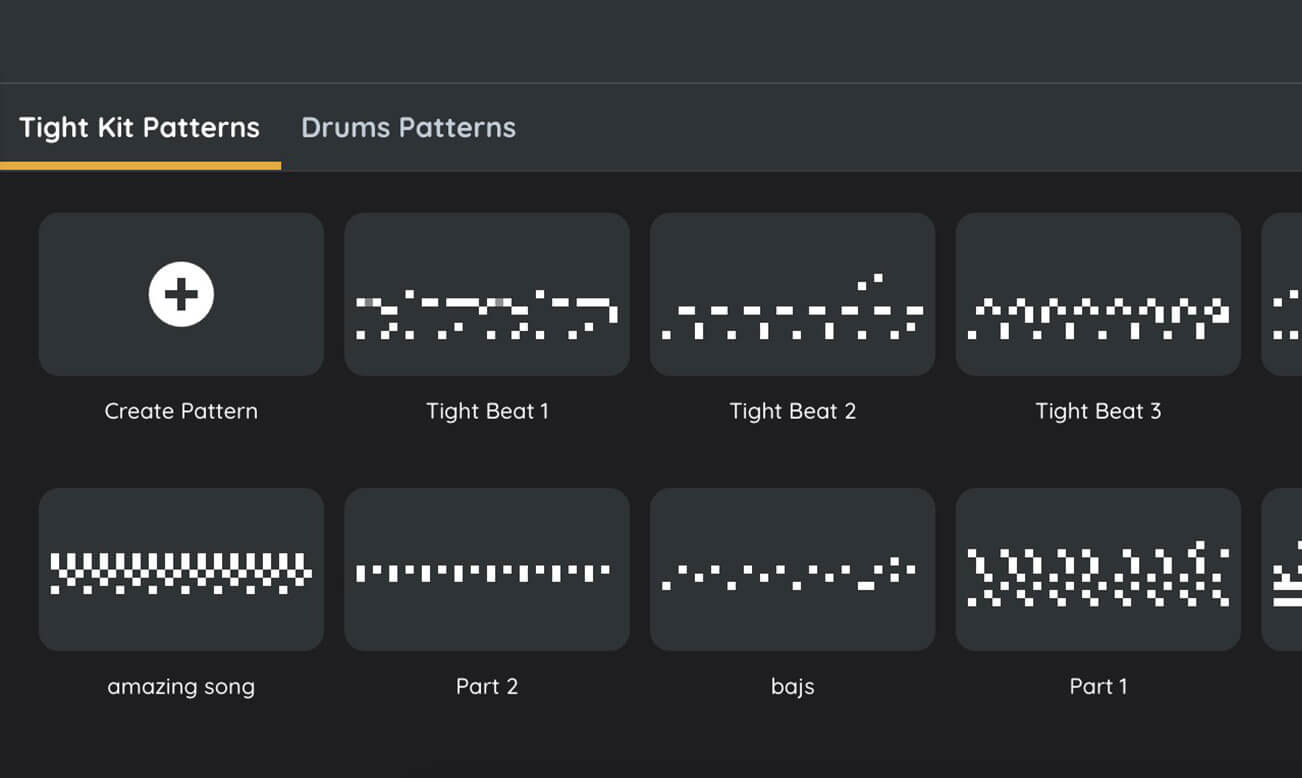 Create rhythms with patterns